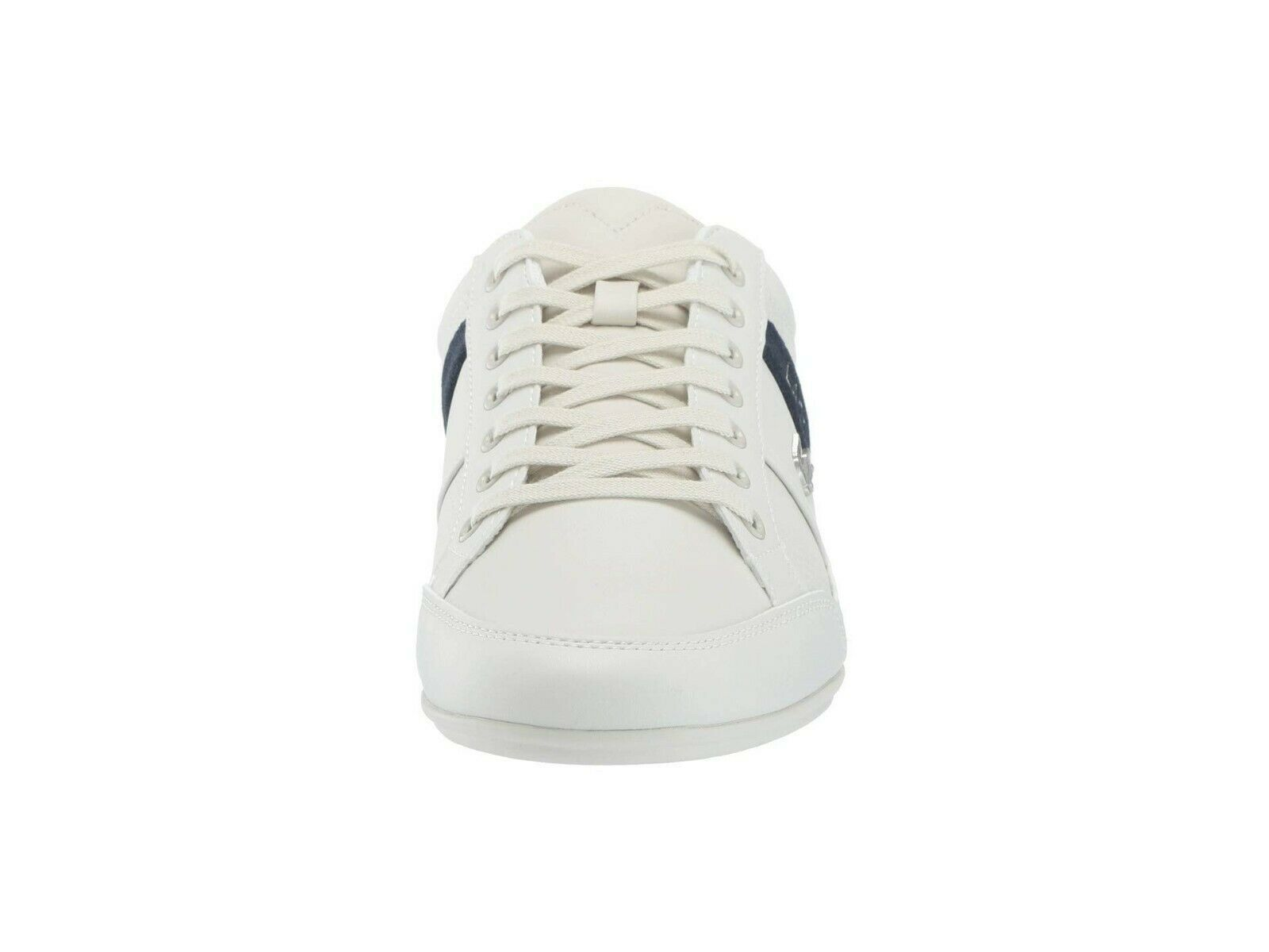 Lacoste Men's Chaymon 119 1 U CMA Leather Casual Sneakers Off White Navy
