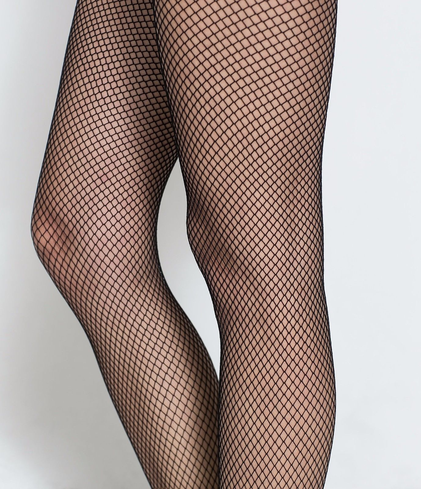 Sock Snob Women's Ladies Sexy fishnet Hold up stockings, Lace Top One size Black