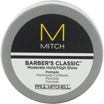 Mitch Barber's Classic Moderate Hold/High Shine Pomade by Paul Mitchell for Men,