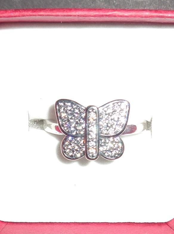 Women's Sterling Silver 925 BUTTERFLY Ring NIB Sz 6