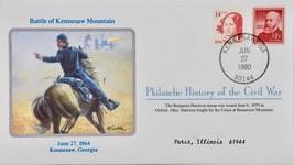 June 27 1990 Philatelic History Civil War Battle Kennesaw Mountain 1864 ... - $9.99