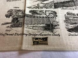 VTG NOS Kay Dee PENNSYLVANIA COVERED BRIDGES Linen Tea Towel image 2