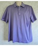 Bobby Jones Purple Pin Stripe Men's Polo Golf Shirt Size Large 100% Cotton - $18.69