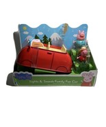 Peppa Pig Lights & Sounds Family Fun Car + 2 Extra Figures Lot W7 - $31.34
