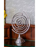 Metal Aluminum Silver Round Rings Saturn Solar Planets Table Home Decor ... - $92.57