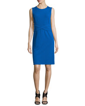 New Womens 10 NWT Designer Dress Evita Diane Von Furstenberg Blue Stretch Sheath - $398.00