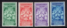 1939 Pius XII Coronation Set of 4 Vatican Stamps Catalog Number 68-71 MNH