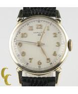 Hamilton Vintage 10 Quilates Oro Llenado Amarillo Mecánico Correa Manual... - $445.47