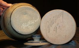 Daviess County Westerwald Stoneware Chautauqua Crock & Frank James Bowl AA-1918 image 10