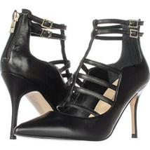 Ivanka Trump Domin Multi T-Strap Pointed Toe Dress Heels, Black, 6 M US Display - $44.15