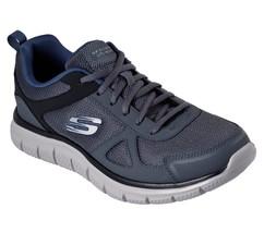 52631 Gris Azul Marino Skechers Zapatos Hombre Espuma Viscoelástica Deporte - $49.48