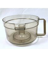 Amber Work Bowl Vtg General Electric Food Processor D1FP1B Replacement - $9.79