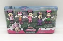 Disney Junior Minnie Mouse 5 Piece Collectible Figure Set Ages 3+ NEW T3 - $14.84