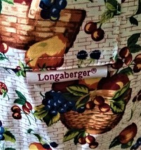 Longaberger Full Kitchen Apron  Longaberger--Fruit Baskets - $10.00