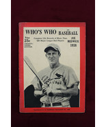 1938 WHO'S WHO IN BASEBALL Joe Medwick Cover 23RD EDITION ExNRMT Cardinals - $79.19