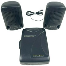 Sony SRS-P3 Speakers & Optimus SCP-82 AM/FM Stereo Mate Auto-Reverse Cas... - $18.65
