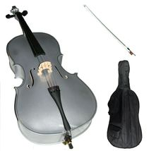 Merano 1/8 Size Silver Cello with Silver Bow+Soft Carrying Bag+Free Rosin  - $229.99