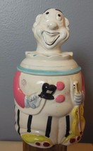 "Vintage Clown Cookie Jar Ceramic l Hand Painted 10 x 6"" Guitar - $34.00"