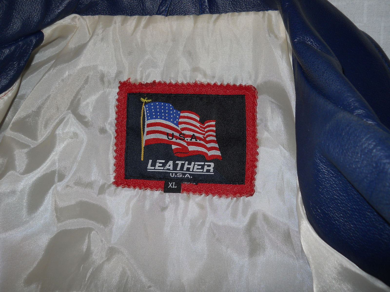 American Flag Stars & Stripes Red White Blue By USA Leathers Motorcycle Extra LG image 3