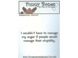 Riley & Company Funny Bones Rubber Cling Sentiment Stamp #RWD-057