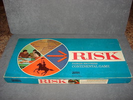 Risk Game of Global Domination Board Game 1968 Wood Pieces [100% COMPLETE] - $20.00