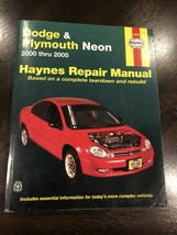 DODGE & PLYMOUTH NEON 2005 2004 2003 2002 2001 2000 Service Shop Repair Manual - $10.00