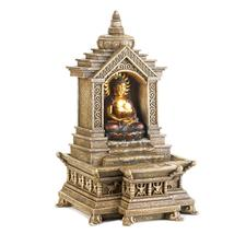 Buddha Fountains, Water Fountains Indoors, Modern Golden Buddha Temple F... - $52.93