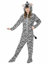 Smiffys Zebra Jumpsuit Bodysuit Zoo Animals Childrens Halloween Costume ... - $28.99