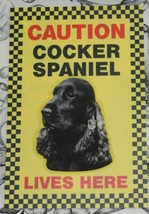 CAUTION COCKER SPANIEL LIVES HERE -  DOG SIGN BLUE ROAN - $3.90