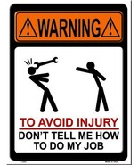 To Avoid Injury Metal Novelty Parking Sign - $21.95