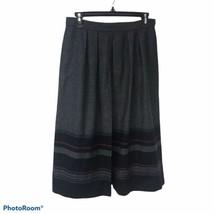 Jones New York Gray Wool Blend Long Skirt with Bottom Fray, Size 10 in EUC. - $19.80