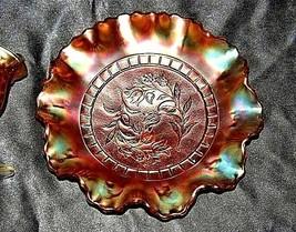 Orange Carnival Glass AA19-CD0001 2 pieces Vintage