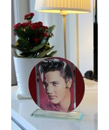 "Elvis Presley ""King of Rock & Roll"" special edition Round Glass photo pl... - $33.65"