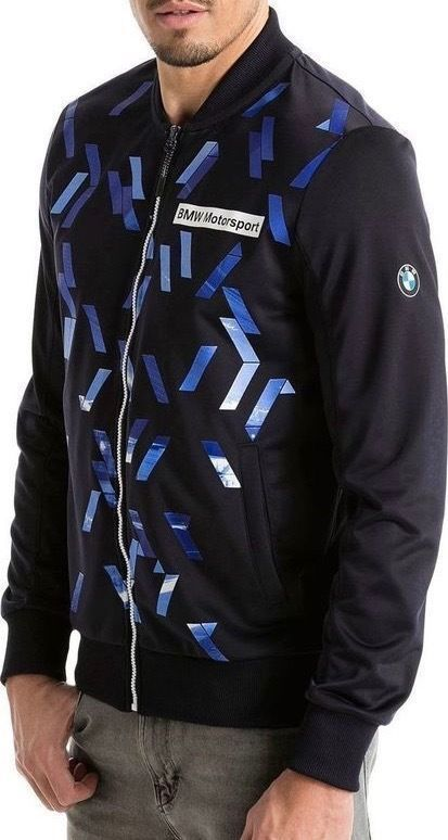 Puma Bmw Motorsport Men's Premium MSP T7 Track Jacket Team Navy Blue 57278801
