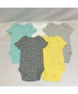 Cloud Island Baby 5pk Short Sleeve Bodysuits, Gray/Yellow/Blue/White, Si... - $15.18