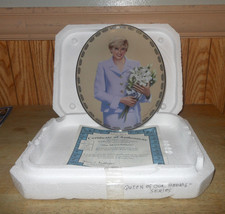 "Princess Diana ""Our Adored Princess"" Queen Of Our Hearts Collector Plate - $17.62"