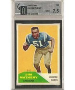 1960 Fleer #122 Jim Matheny GAI 7.5 NEAR MINT - $43.51