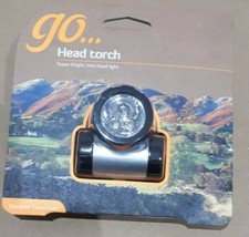 GO LED Head Torch Light Lamp - Outdoor Walking Hiking Camping Super Bright - $12.73