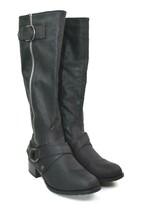 Rampage Mercer Women's Black Knee-High Zip Boots Size 6 M   - $29.69