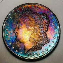 1880 S UNC RAW  MORGAN SILVER DOLLAR . KEY DATE  518 - $142.10