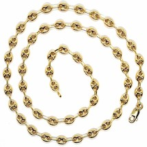 MASSIVE 18K YELLOW GOLD BIG MARINER CHAIN 5 MM, 20 INCHES, ITALY MADE NECKLACE image 2