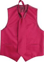Men's Solid Color Adjustable Dress Vest & Neck Tie Set for Suit or Tuxedo image 8
