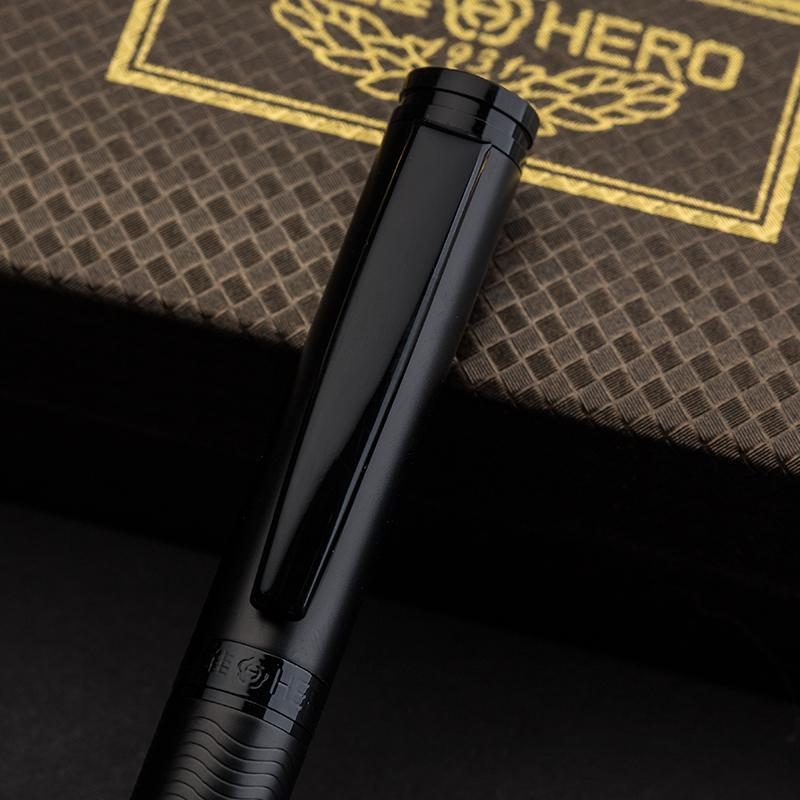 1pc High-end Mae Black Rollerball Pen Metal Hero Business Office Signature Neutr