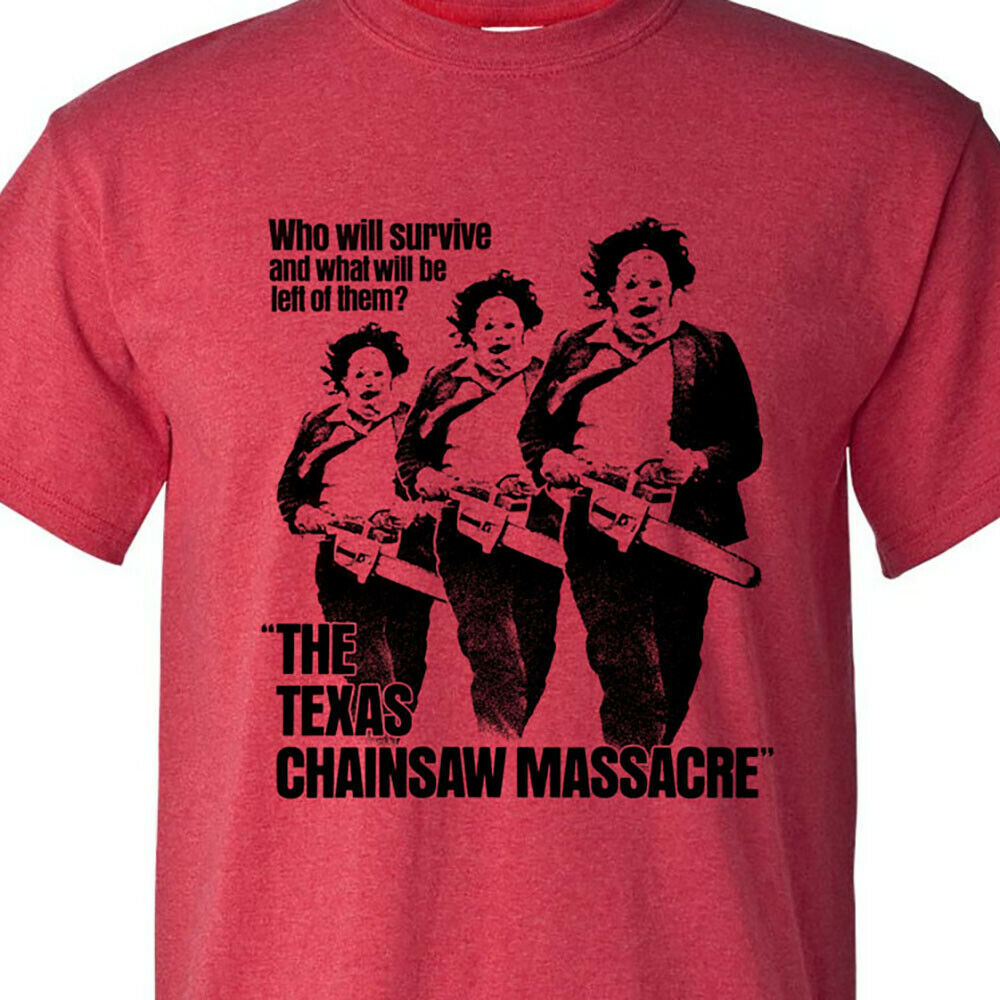 Texas Chainsaw Massacre graphic tee Leatherface retro horror movie cotton blend