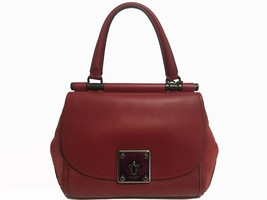 Coach Leather & Suede Drifter Handbag Red - $437.58