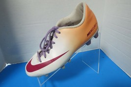 Nike Mercurial Youth Soccer Cleats 630862 Red White Orange Size 8 Youth - $19.75