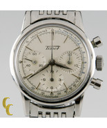 Tissot Cronógrafo Mvmt 1281 Vintage Acero Inoxidable Reloj Hombre Con Su... - $3,962.39