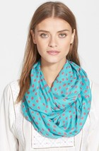 NEW Kate Spade New York Blue Leopard Dot Infinity Scarf  - $69.29