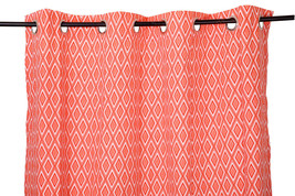 55 x 98 in. Grommet Curtain Diamond Print Coral - $21.35