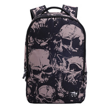 Creative personality student waterproof grey skull head pattern shoulder... - $26.00